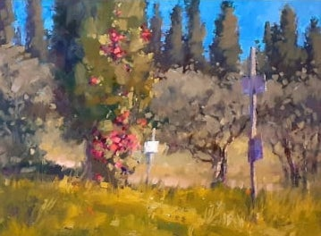 Fase Due #12 Cypresses and Roses, Forci ,30x40