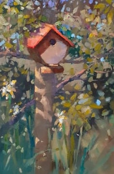 Fase Due #5, Birdhouse on Post