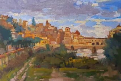 Autumn Skies Over Florence 20x30 cm