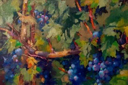 Overgrown Grapes #5, 20x30 cm