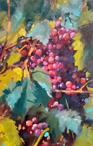 Overgrown Grapes #4, 30x20 cm