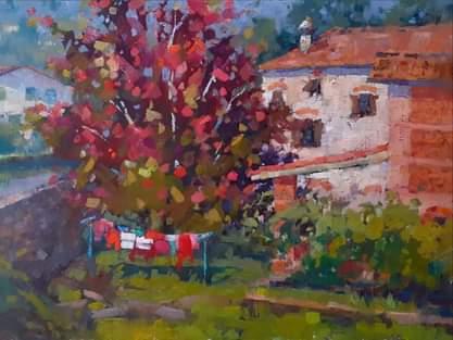 Autumn Reds, 30x40 cm
